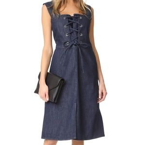 SEE BY CHLOE Denim Lace-up Dress NWT $360